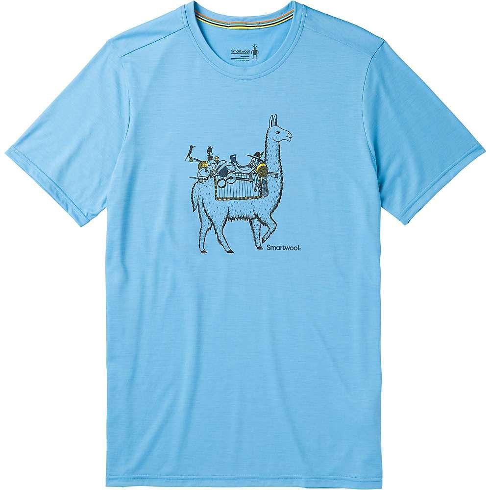 スマートウール Smartwool メンズ ハイキング・登山 トップス【Merino Sport 150 Llama Adventures Tee】Geyser Blue