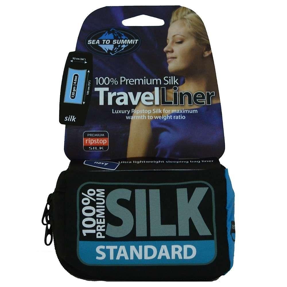 シー トゥ サミット Sea to Summit ユニセックス ハイキング・登山【Premium Silk Liner】Navy Blue