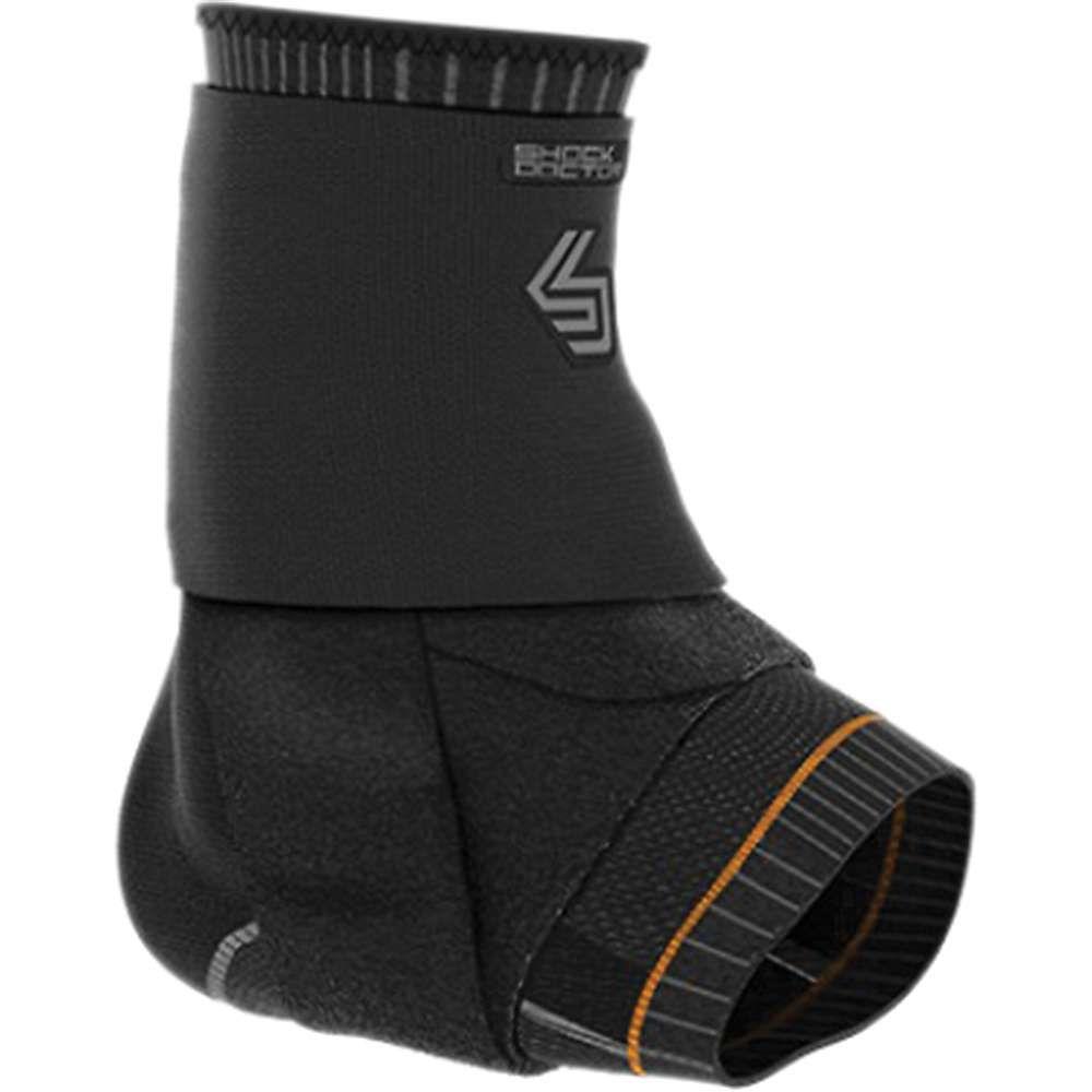 ショックドクター Shock Doctor ユニセックス フィットネス・トレーニング サポーター【Ultra Compression Knit Ankle Support w/Gel Support and Figure-8 Straps】Black / Grey