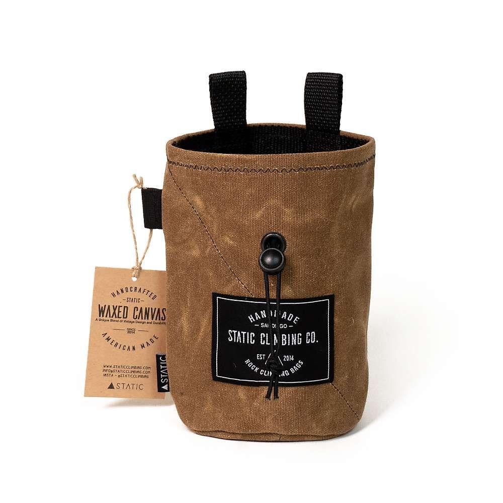 STATIC ユニセックス クライミング【Waxed Canvas Chalk Bag】Tobacco