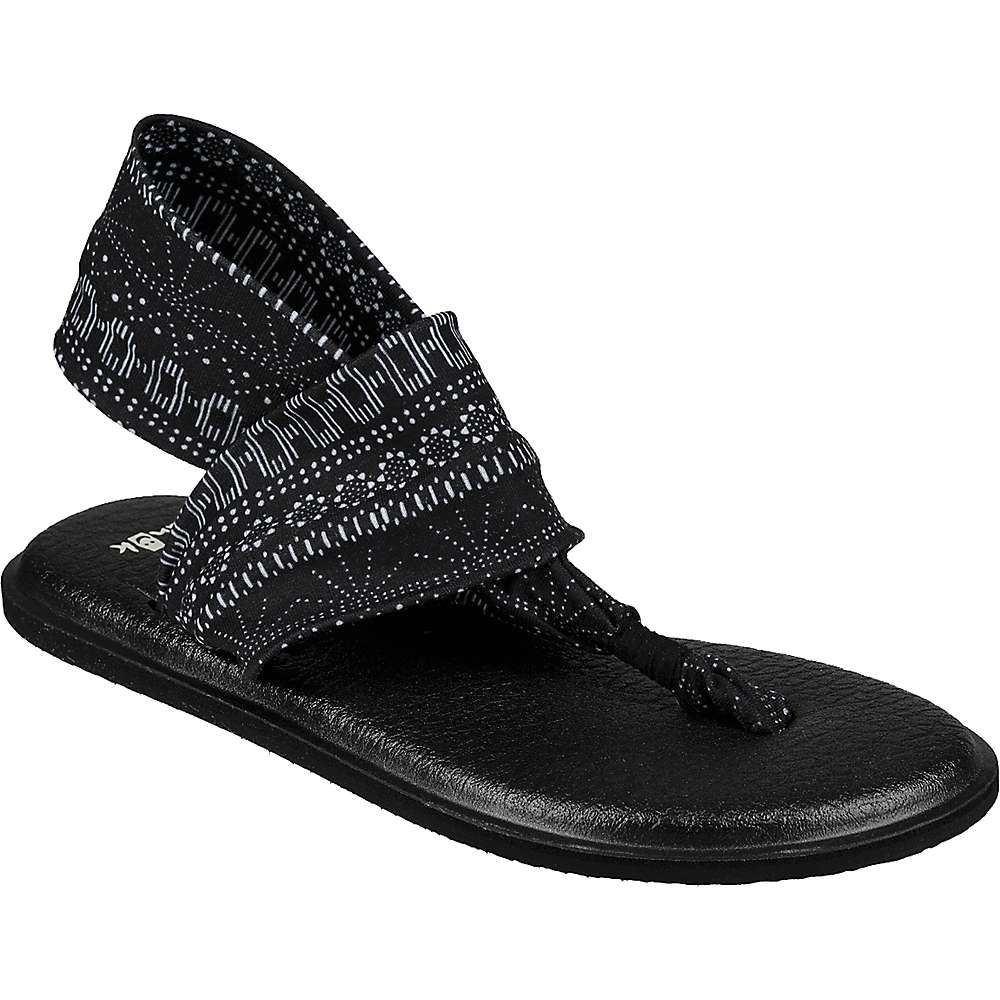 サヌーク Sanuk レディース シューズ・靴 ビーチサンダル【Yoga Sling 2 Prints Sandal】Black / White Shibori Stripes