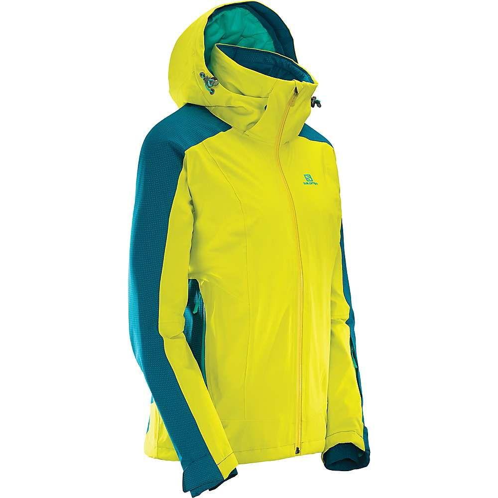 サロモン Salomon レディース アウター ジャケット【Brilliant Jacket】Sulphur Spring / Deep Lagoon