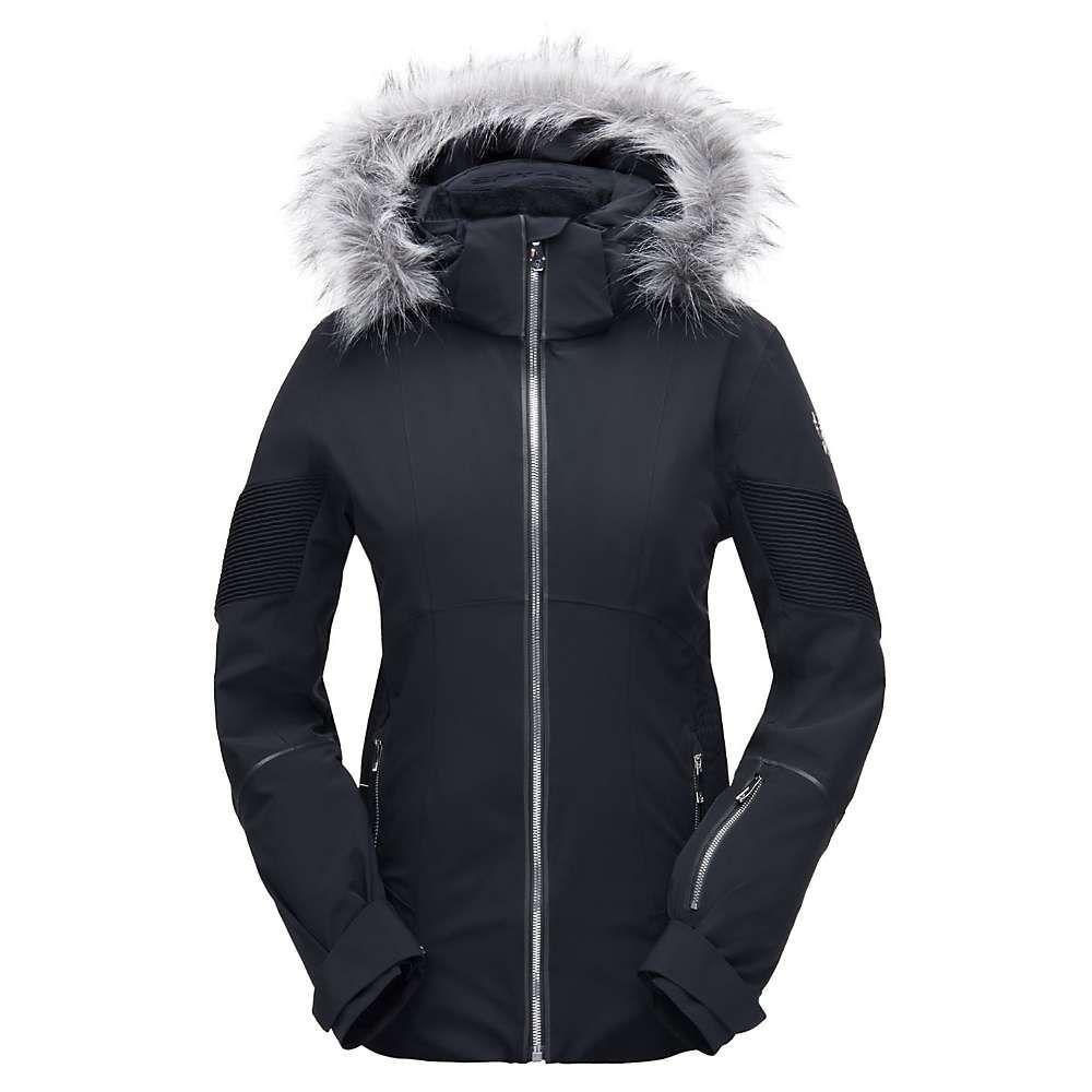 スパイダー Spyder レディース スキー・スノーボード アウター【Diabla Faux Fur Jacket】Black / Black