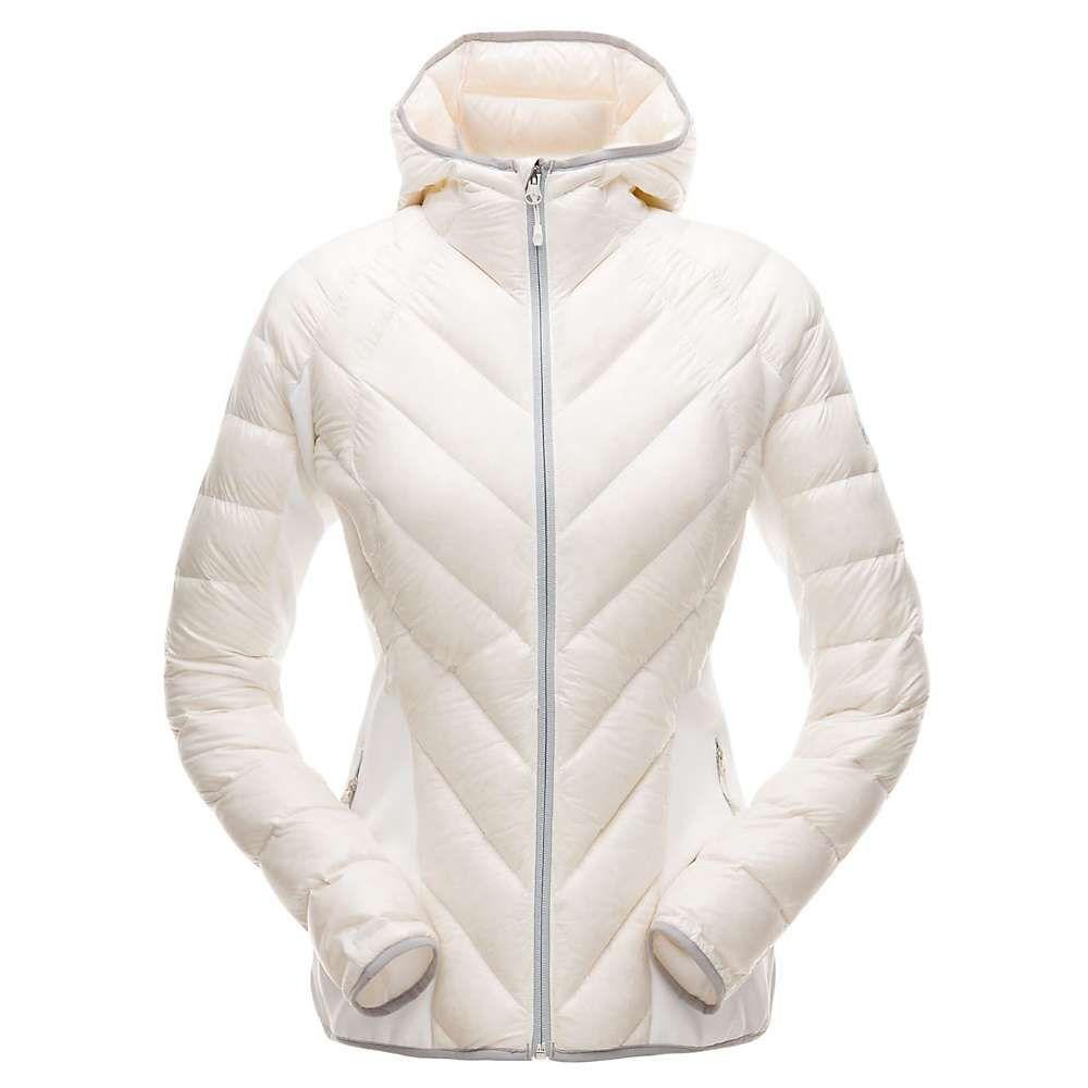 スパイダー Spyder レディース スキー・スノーボード アウター【Syrround Hybrid Hoody Jacket】White / White / Alloy