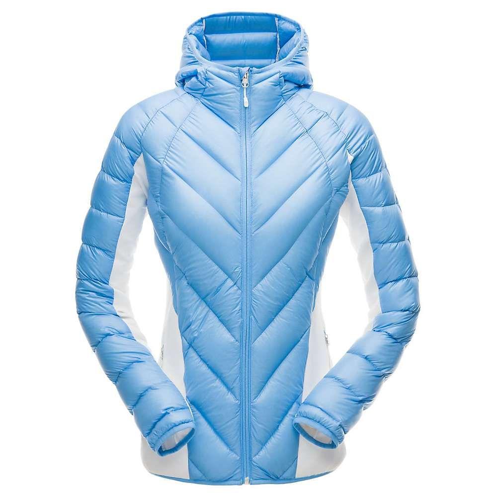 スパイダー Spyder レディース スキー・スノーボード アウター【Syrround Hybrid Hoody Jacket】Blue Ice / White / Blue Ice