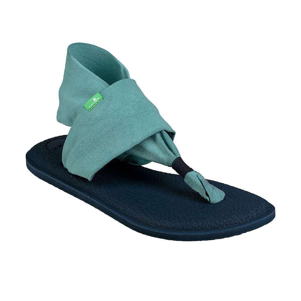 サヌーク Sanuk レディース ヨガ・ピラティス シューズ・靴【Yoga Sling 2 Blocked Sandal】Mineral Blue