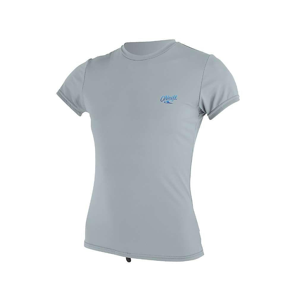オニール Oneill レディース 水着・ビーチウェア ラッシュガード【O'Neill Premium Short Sleeve Sun Shirt】Cool Grey