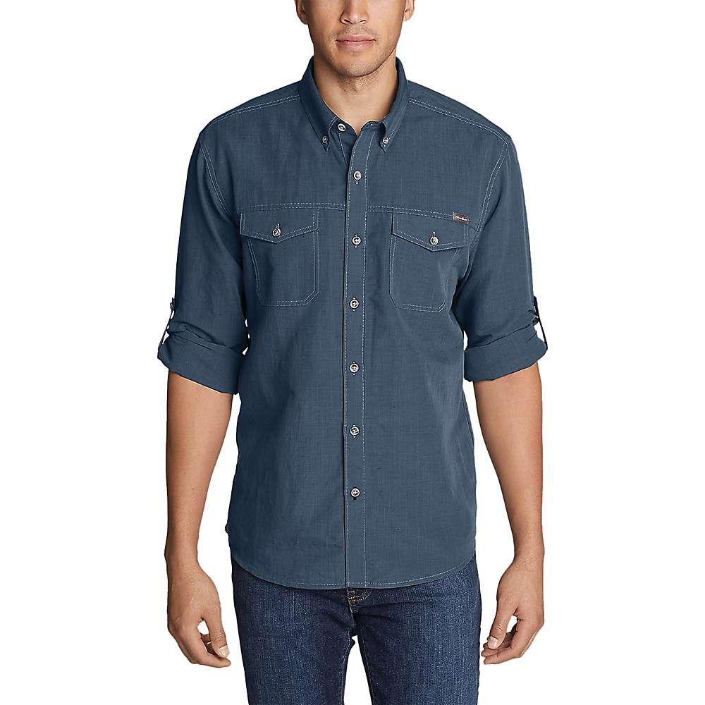 エディー バウアー Eddie Bauer Travex メンズ トップス シャツ【Larrabee Pro LS Shirt】Medium Indigo