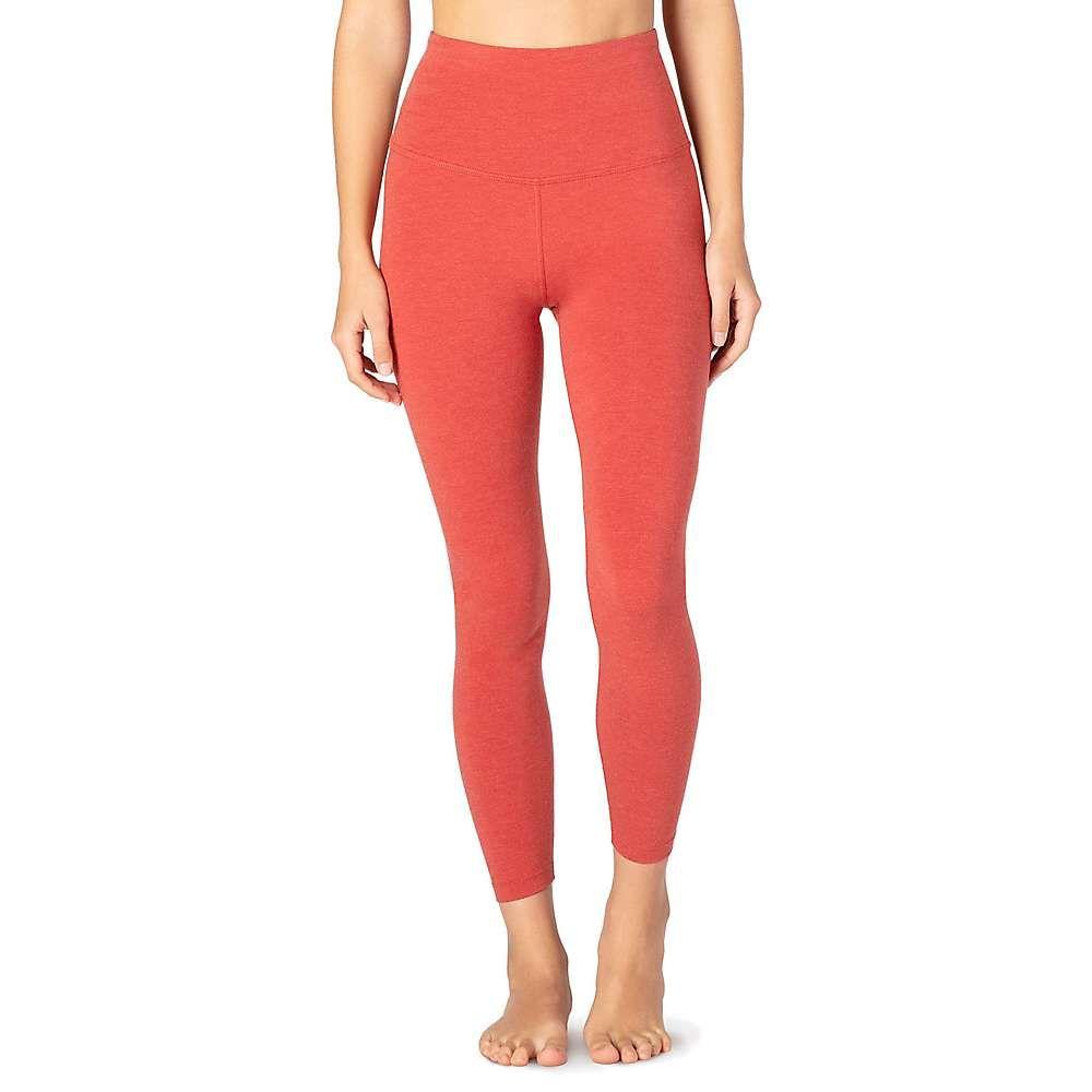 ビヨンドヨガ Beyond Yoga レディース ヨガ・ピラティス ボトムス・パンツ【Sanded High Waisted Midi Legging】Scarlet Sun Heather