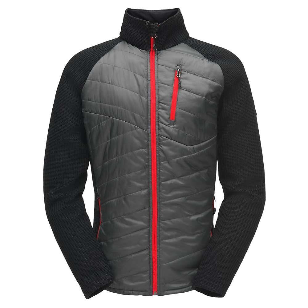 スパイダー Spyder メンズ スキー・スノーボード アウター【Ouzo Full Zip Stryke Jacket】Polar / Black / Red