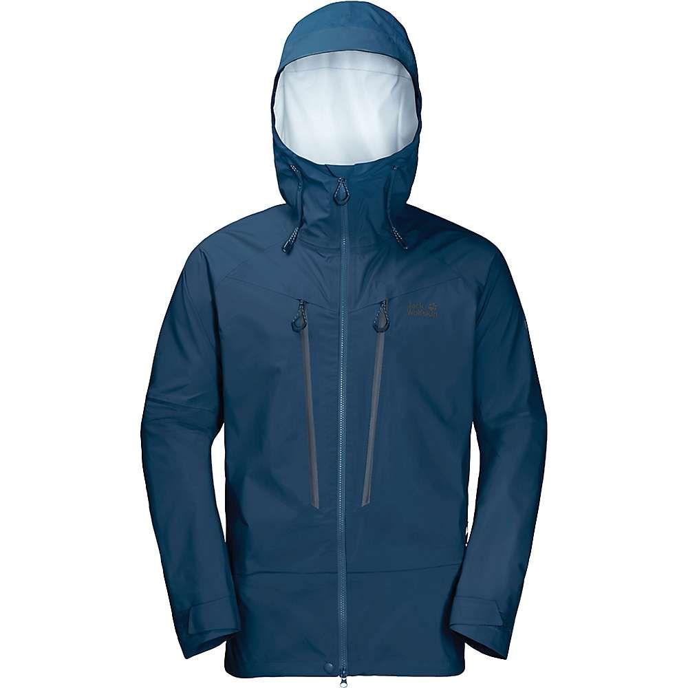 ジャックウルフスキン Jack Wolfskin メンズ スキー・スノーボード アウター【Exolight Mountain Jacket】Poseidon Blue