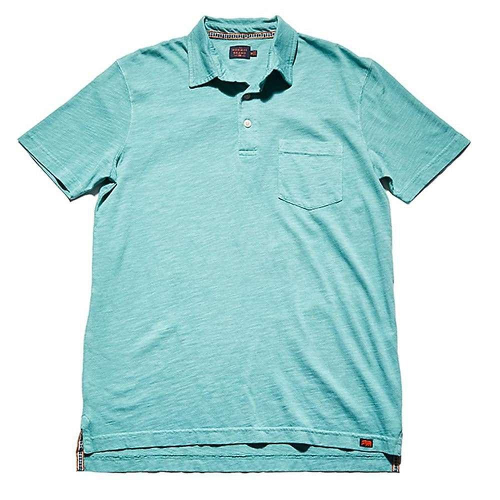 ノーブランド The Normal Brand メンズ トップス ポロシャツ【Slub SS Polo】Blue Surf