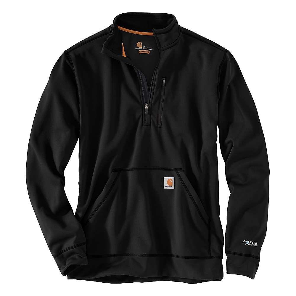 カーハート Carhartt メンズ トップス スウェット・トレーナー カーハート【Force Mock Half-Zip Extremes Mock Neck Half-Zip Sweatshirt】Black, サーフィンワールド:57b49779 --- anaphylaxisireland.ie