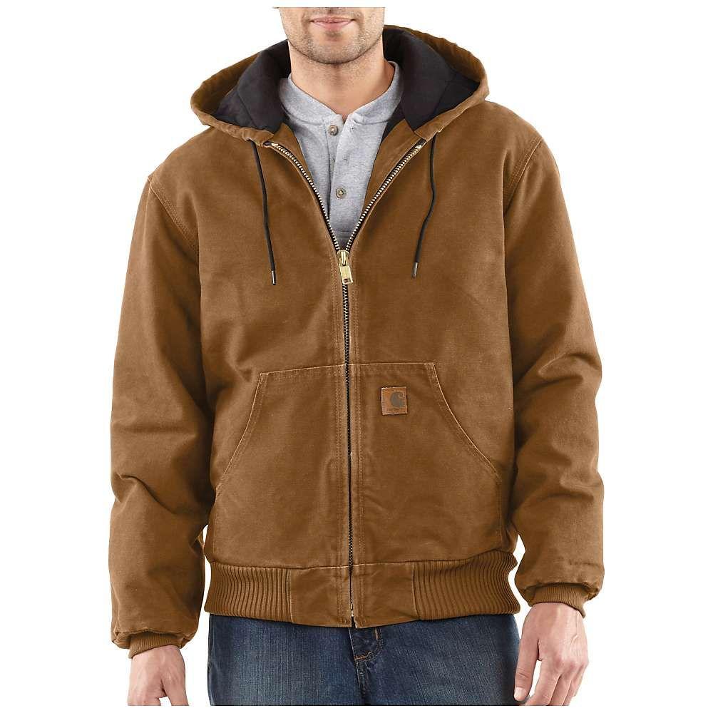 カーハート Carhartt メンズ トップス シャツ【Quilted Flannel Lined Sandstone Active Jacket】Carhartt Brown