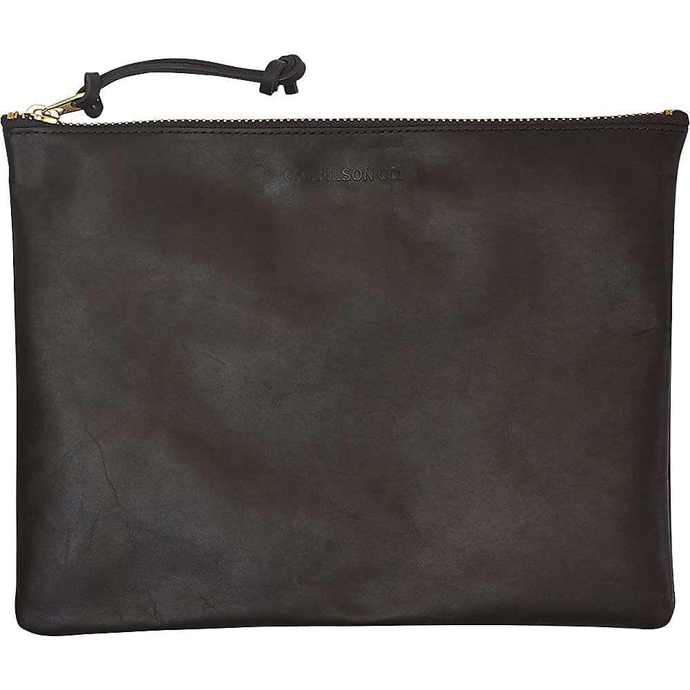 フィルソン メンズ 財布・時計・雑貨 ポーチ Moss 【サイズ交換無料】 フィルソン Filson メンズ ポーチ【Large Leather Pouch】Moss
