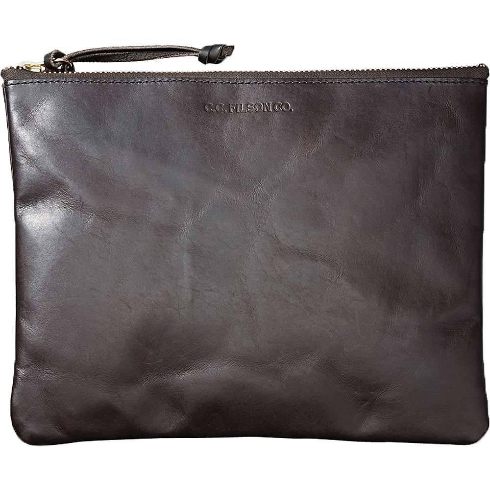 フィルソン Filson メンズ ポーチ【Large Leather Pouch】Brown