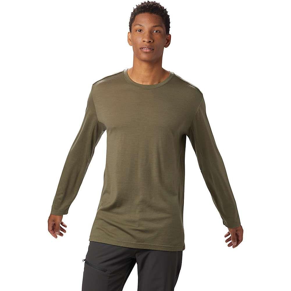 マウンテンハードウェア Mountain Hardwear メンズ トップス 長袖Tシャツ【Diamond Peak LS Tee】Light Army