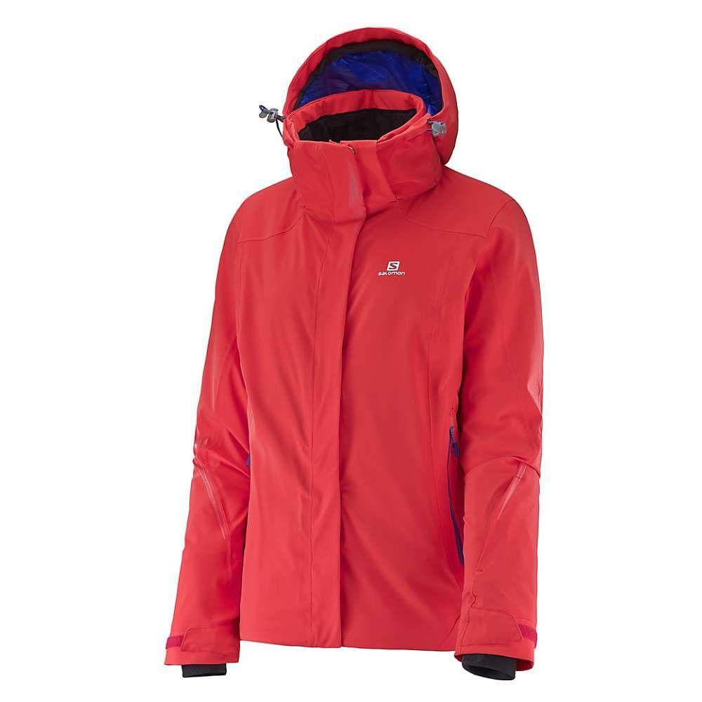 サロモン Salomon レディース スキー・スノーボード アウター【Brilliant Jacket】Infrared