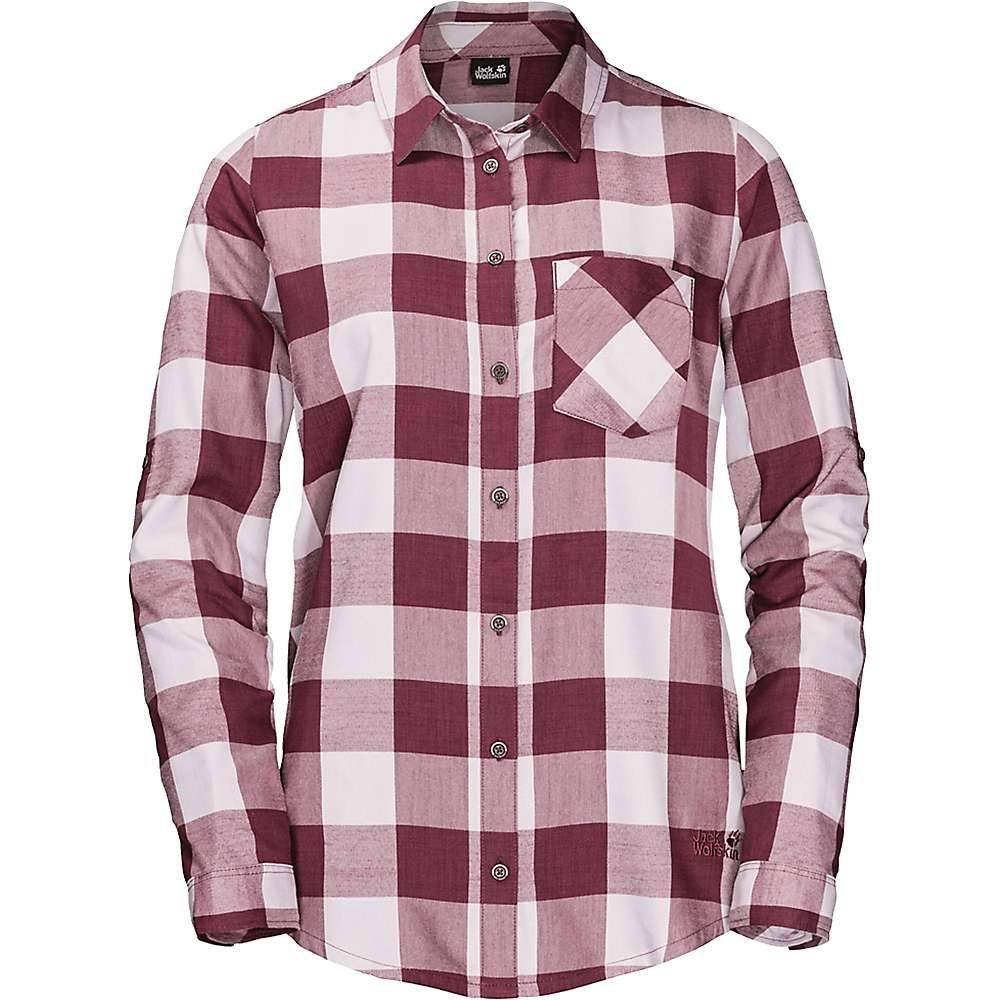 ジャックウルフスキン Jack Wolfskin レディース ハイキング・登山 トップス【Holmstad Shirt】Violet Pearl Checks