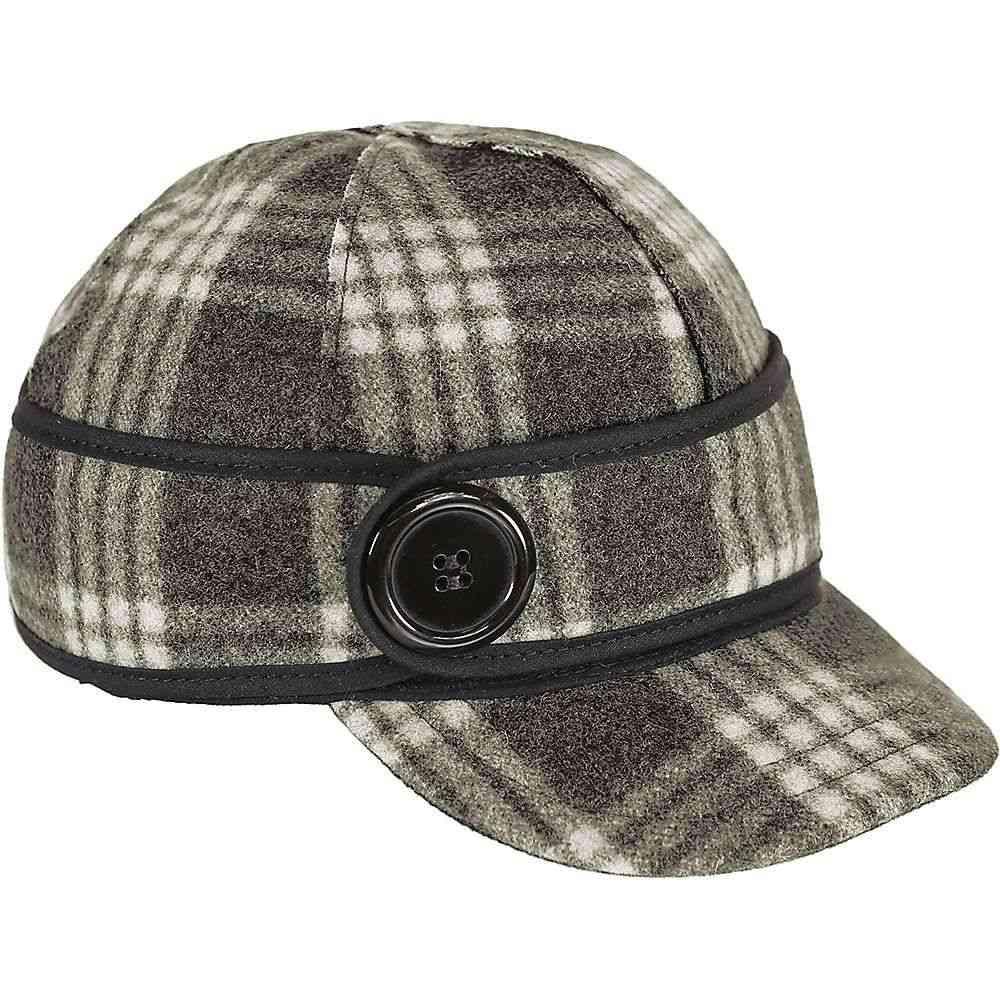 ストーミー クローマー Stormy Kromer レディース 帽子【Button Up Cap】Charcoal/White Tartan