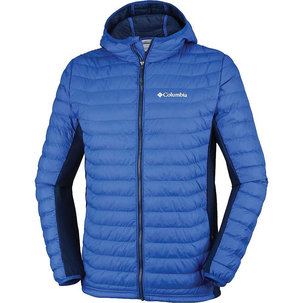 コロンビア Columbia メンズ スキー・スノーボード アウター【Powder Pass Hooded Jacket】Azul/Collegiate Navy