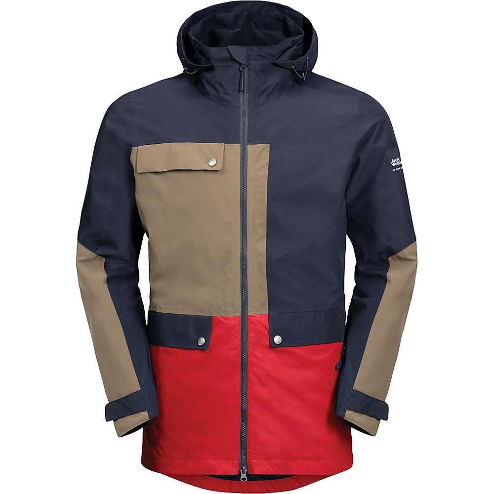 ジャックウルフスキン Jack Wolfskin メンズ スキー・スノーボード アウター【365 Influencer Jacket】Night Blue Peak Red
