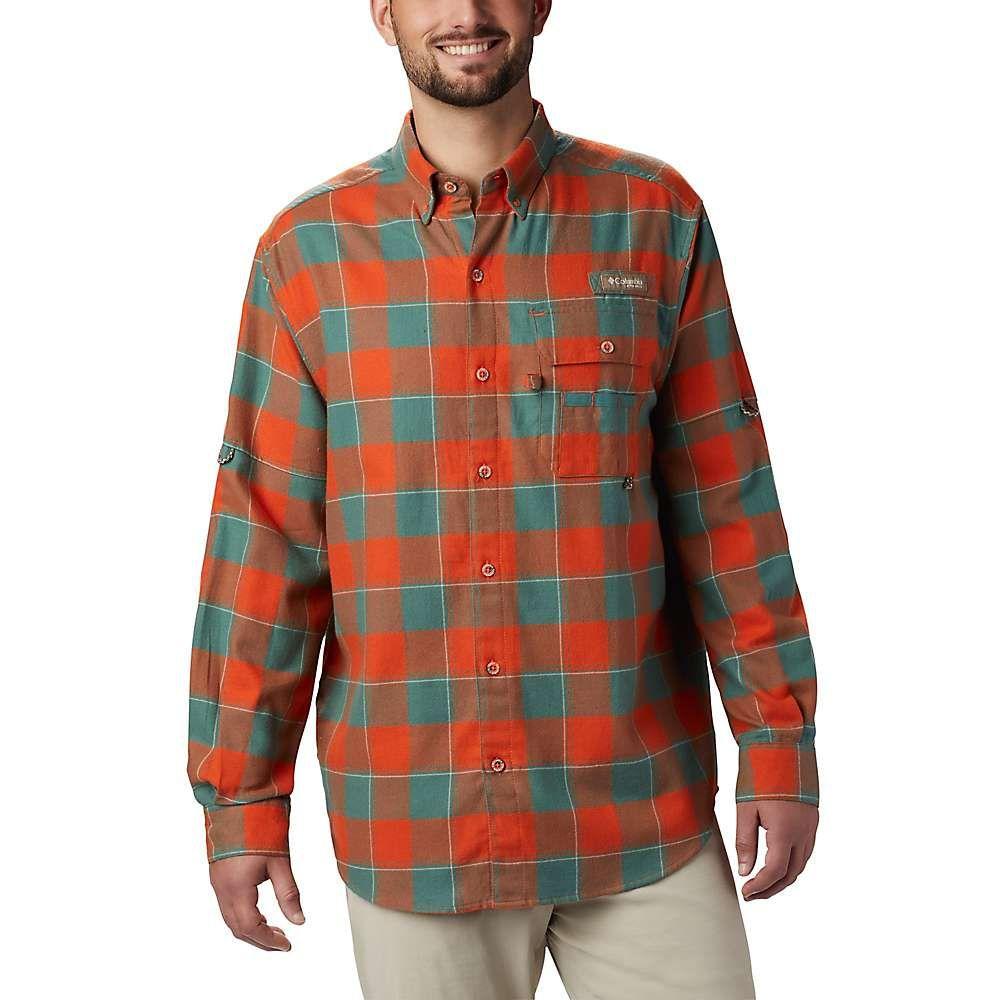 コロンビア Columbia メンズ ハイキング・登山 トップス【Sharptail Flannel Shirt】Backcountry Orange Chunky Plaid