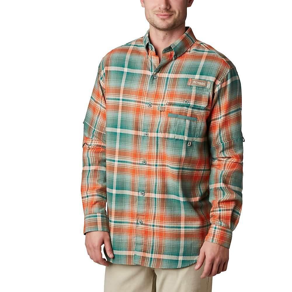 コロンビア Columbia メンズ ハイキング・登山 トップス【Sharptail Flannel Shirt】Backcountry Orange Multi Plaid