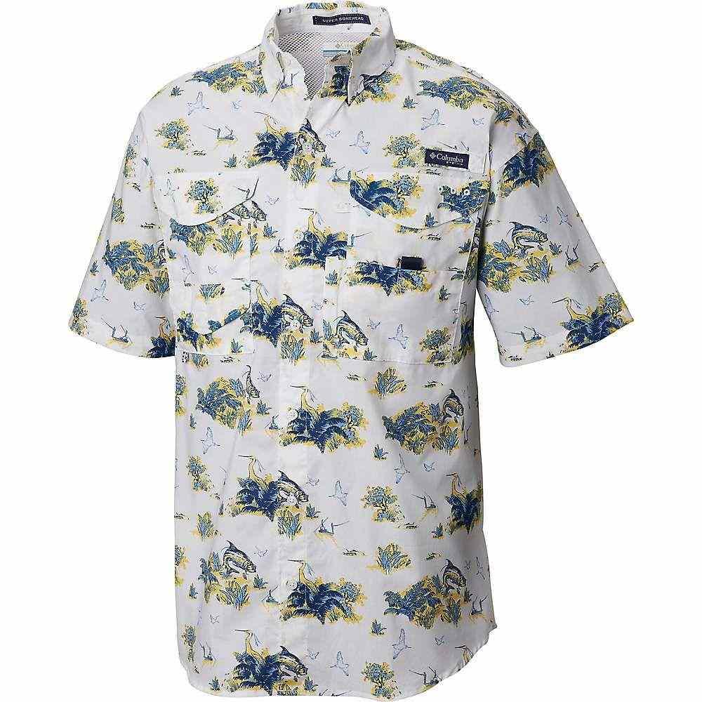 コロンビア Columbia メンズ ハイキング・登山 トップス【Super Bonehead Classic SS Shirt】White Cap Reeds N Tarpons Print