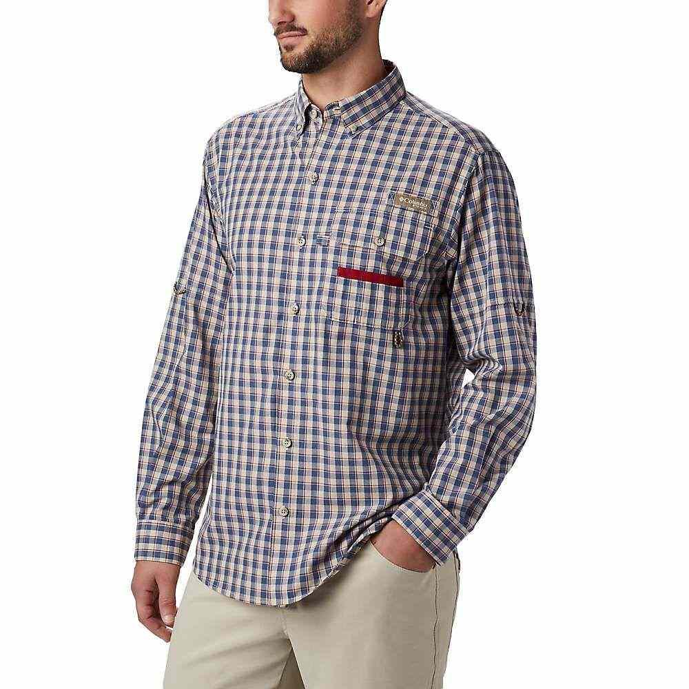 コロンビア Columbia メンズ ハイキング・登山 トップス【Super Sharptail LS Shirt】Beet Gingham