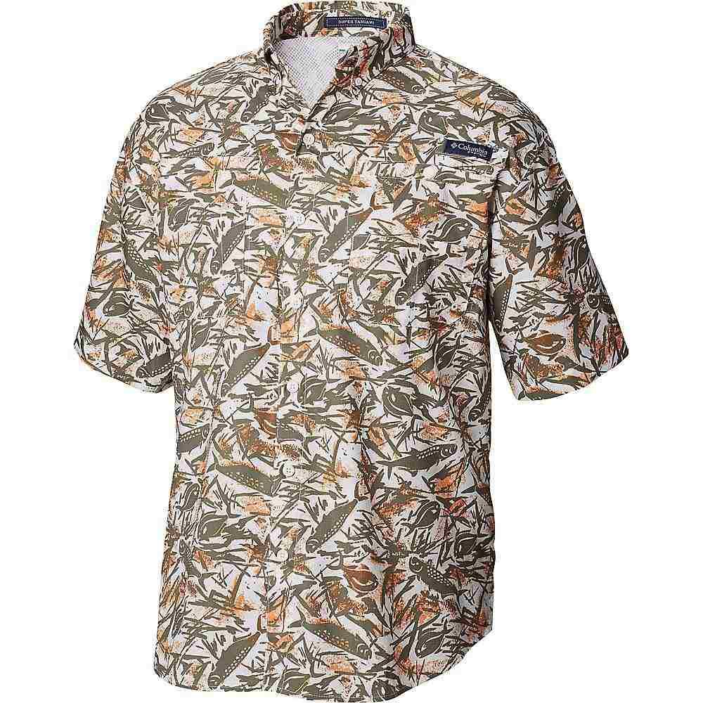 コロンビア Columbia メンズ ハイキング・登山 トップス【Super Tamiami SS Shirt】Cypress Tarpons N Permits Print