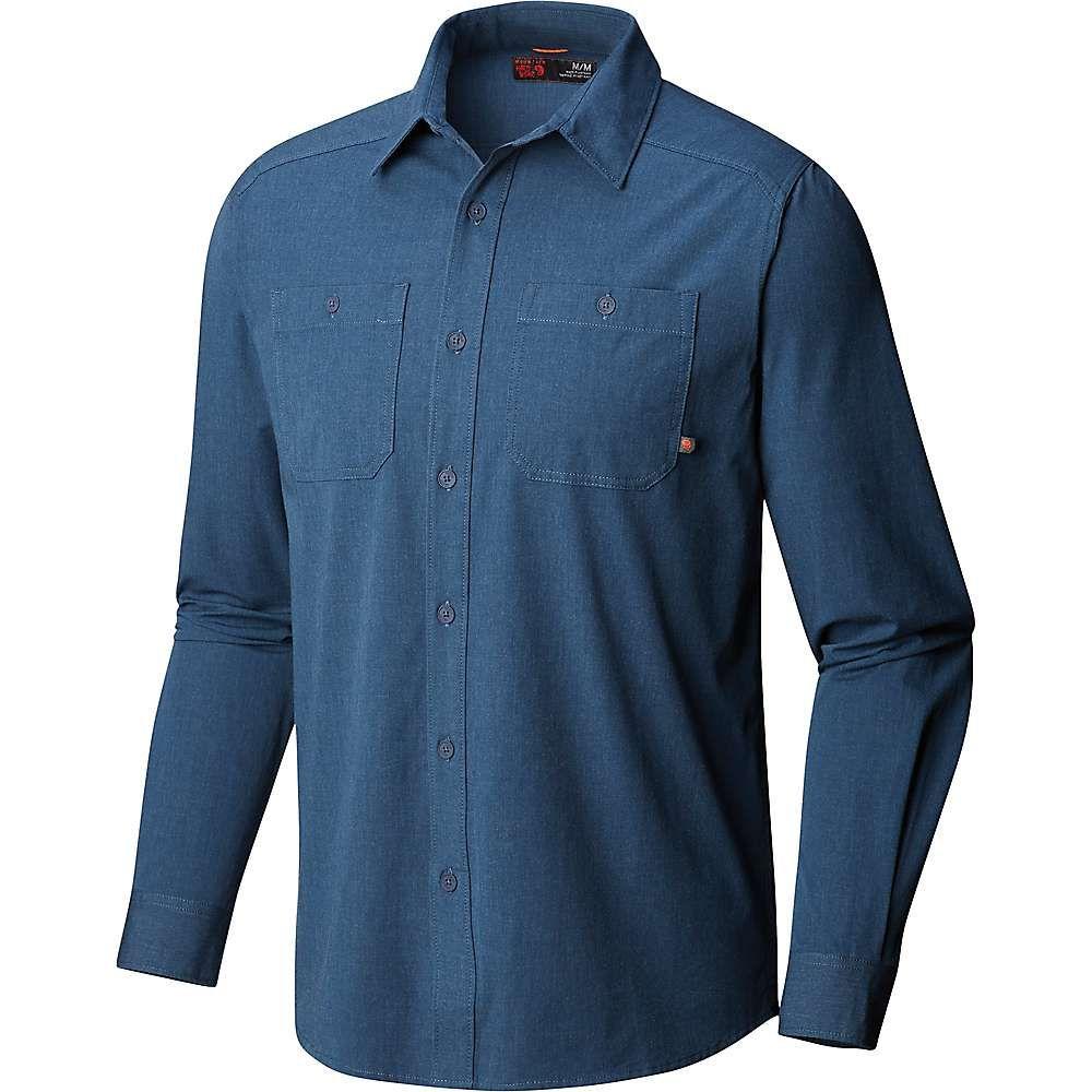 マウンテンハードウェア Mountain Hardwear メンズ ハイキング・登山 トップス【Riveter Twill LS Shirt】Zinc