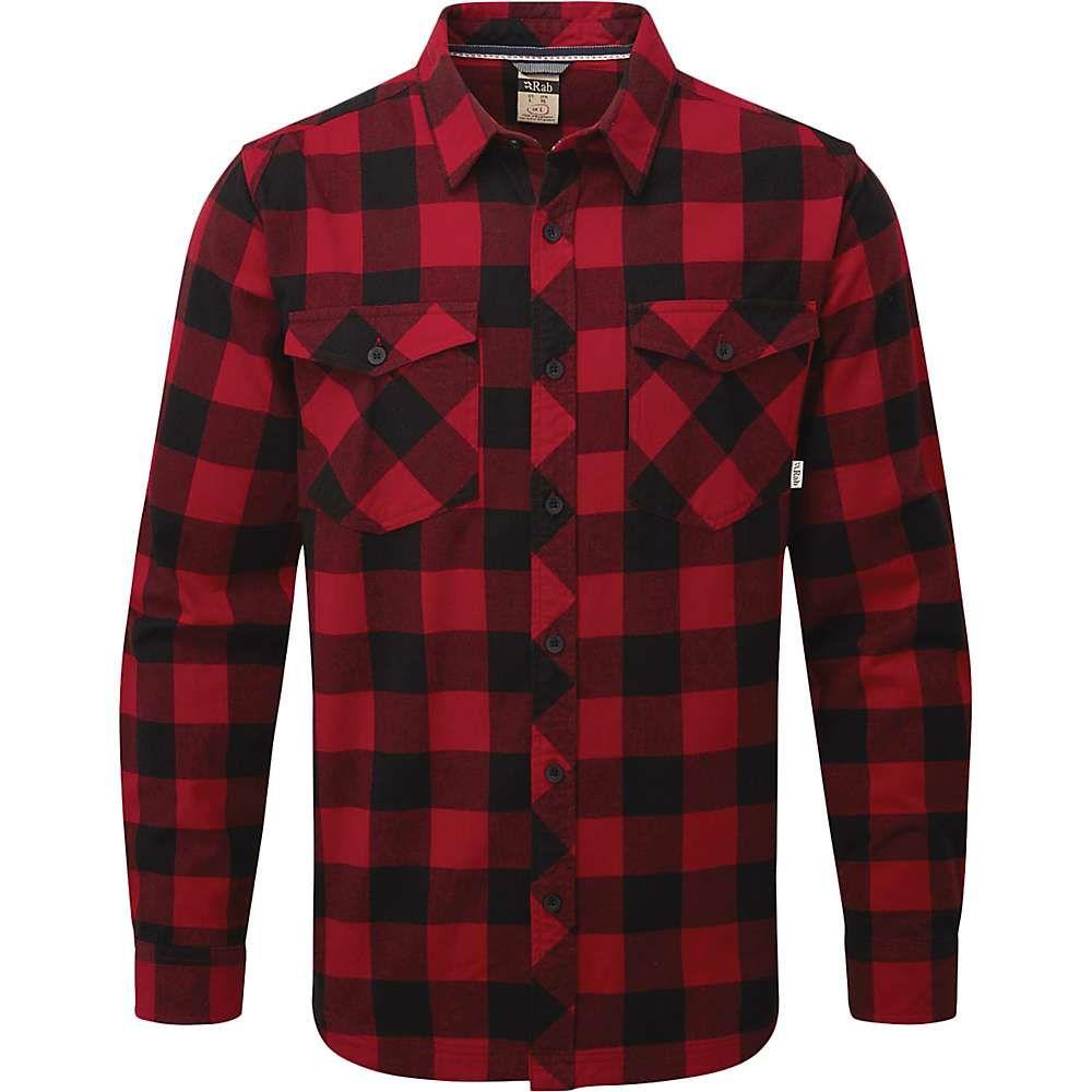 ラブ Rab メンズ ハイキング・登山 トップス【Boundary Shirt】Autumn Red/Black