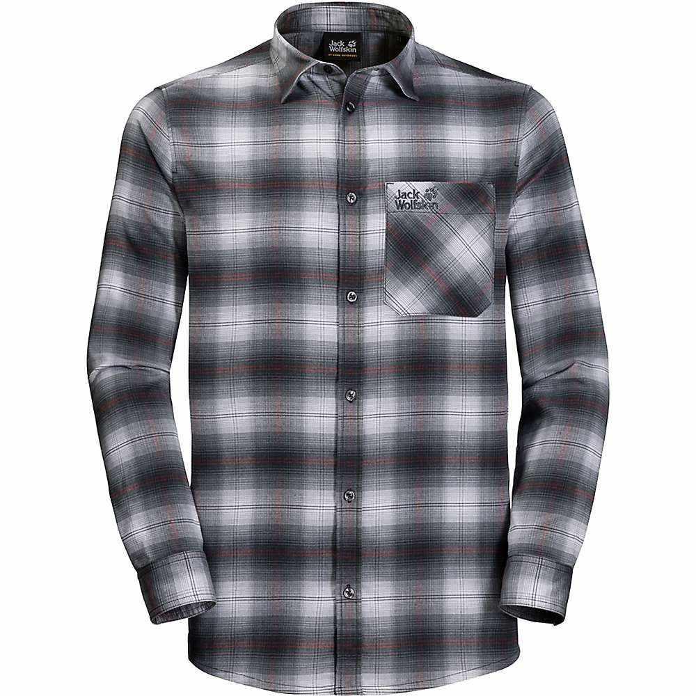 ジャックウルフスキン Jack Wolfskin メンズ ハイキング・登山 トップス【Light Valley Shirt】Ebony Checks