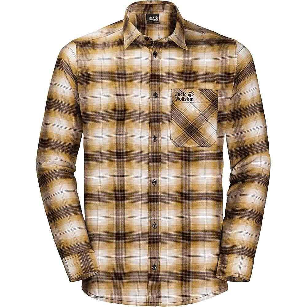 ジャックウルフスキン Jack Wolfskin メンズ ハイキング・登山 トップス【Light Valley Shirt】Golden Amber Checks