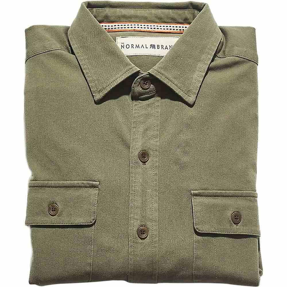 ノーブランド The Normal Brand メンズ ハイキング・登山 トップス【Shooter Four-Way Stretch Twill Shirt】Hunter Green