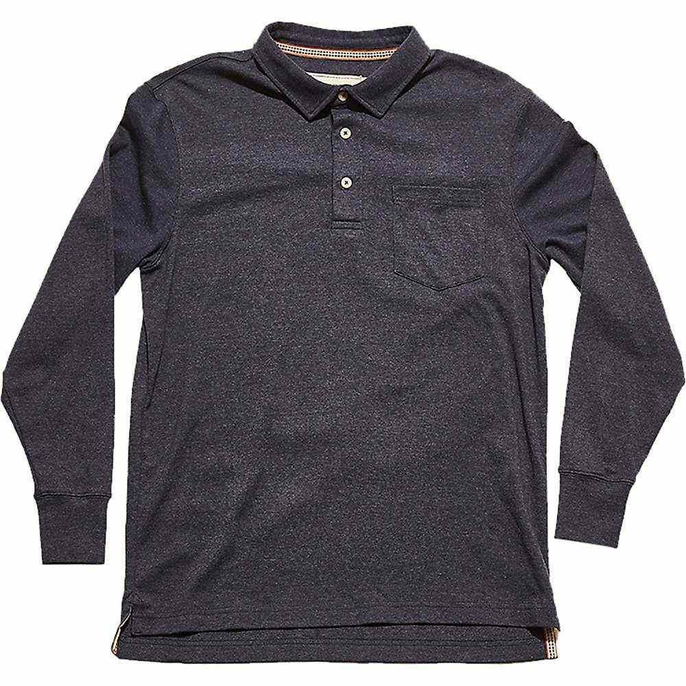 ノーブランド The Normal Brand メンズ ハイキング・登山 トップス【Long Sleeve Puremoeso Pocket Polo】Navy