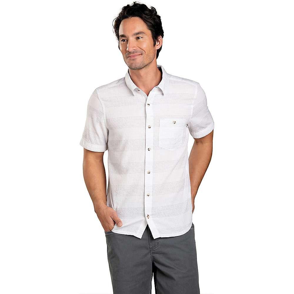 トードアンドコー Toad & Co メンズ ハイキング・登山 トップス【Airscape Slim SS Shirt】White