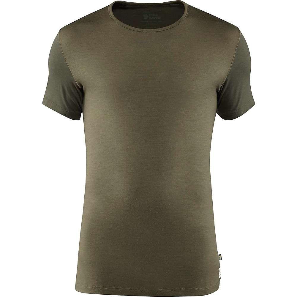 フェールラーベン Fjallraven メンズ ハイキング・登山 トップス【Wool T-Shirt】Laurel Green-Deep Forest