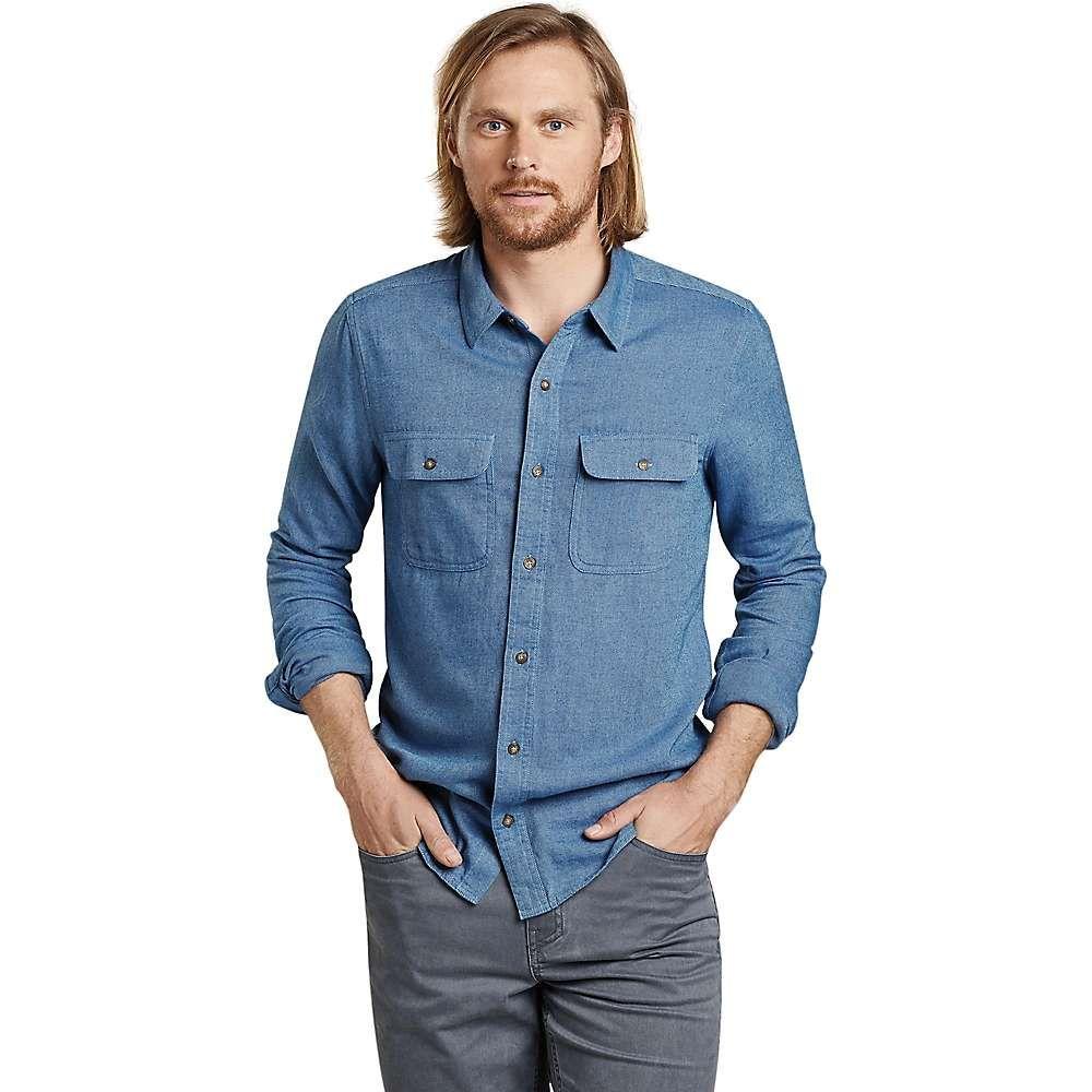 トードアンドコー Toad & Co メンズ ハイキング・登山 トップス【Me's Indigo Flannel Slim LS Shirt】Light Indigo Twill