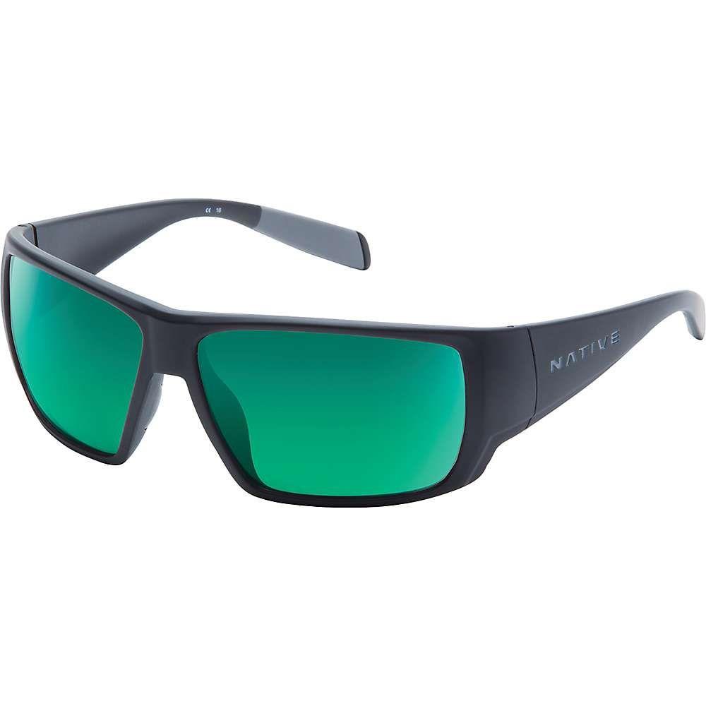 ネイティブ ユニセックス ファッション小物 メガネ・サングラス Matte Black/Green Reflex Polarized 【サイズ交換無料】 ネイティブ Native ユニセックス メガネ・サングラス【Sightcaster Polarized Sunglasses】Matte Black/Green Reflex Polarized