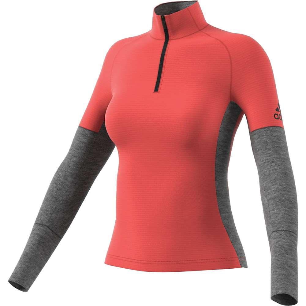 アディダス Adidas レディース ヨガ・ピラティス トップス【Xperior AC Top】Easy Coral/Dark Grey Heather