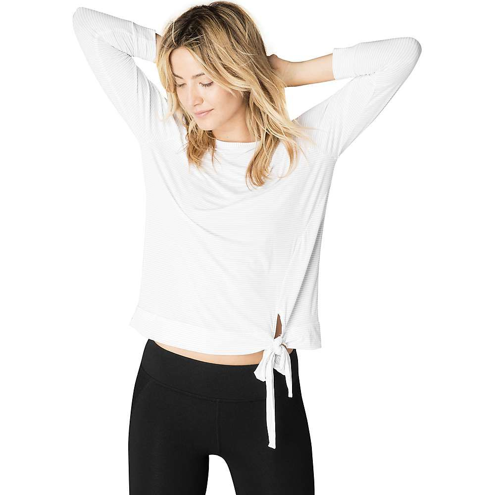 ビヨンドヨガ Beyond Yoga レディース ヨガ・ピラティス 七分袖 トップス【True Stripe 3/4 Sleeve Pullover Top】White