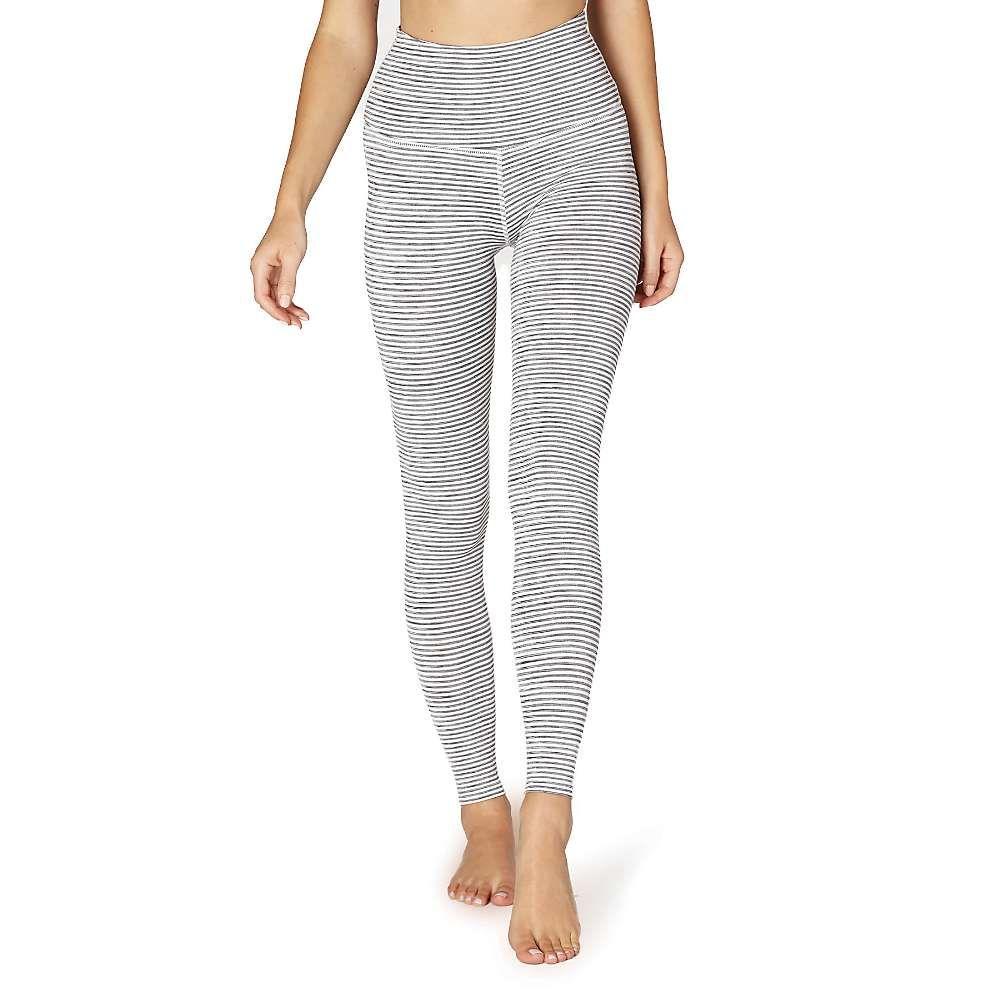 ビヨンドヨガ Beyond Yoga レディース ヨガ・ピラティス スパッツ・レギンス ボトムス・パンツ【True to Stripe High Wasited Long Legging】White Heather Surf