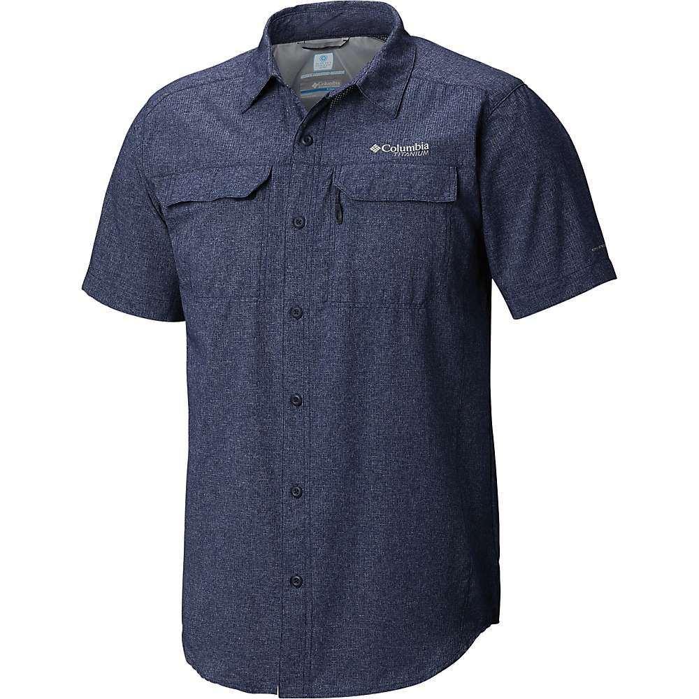 コロンビア Columbia メンズ ハイキング・登山 半袖シャツ トップス【Irico SS Shirt】Collegiate Navy Heather