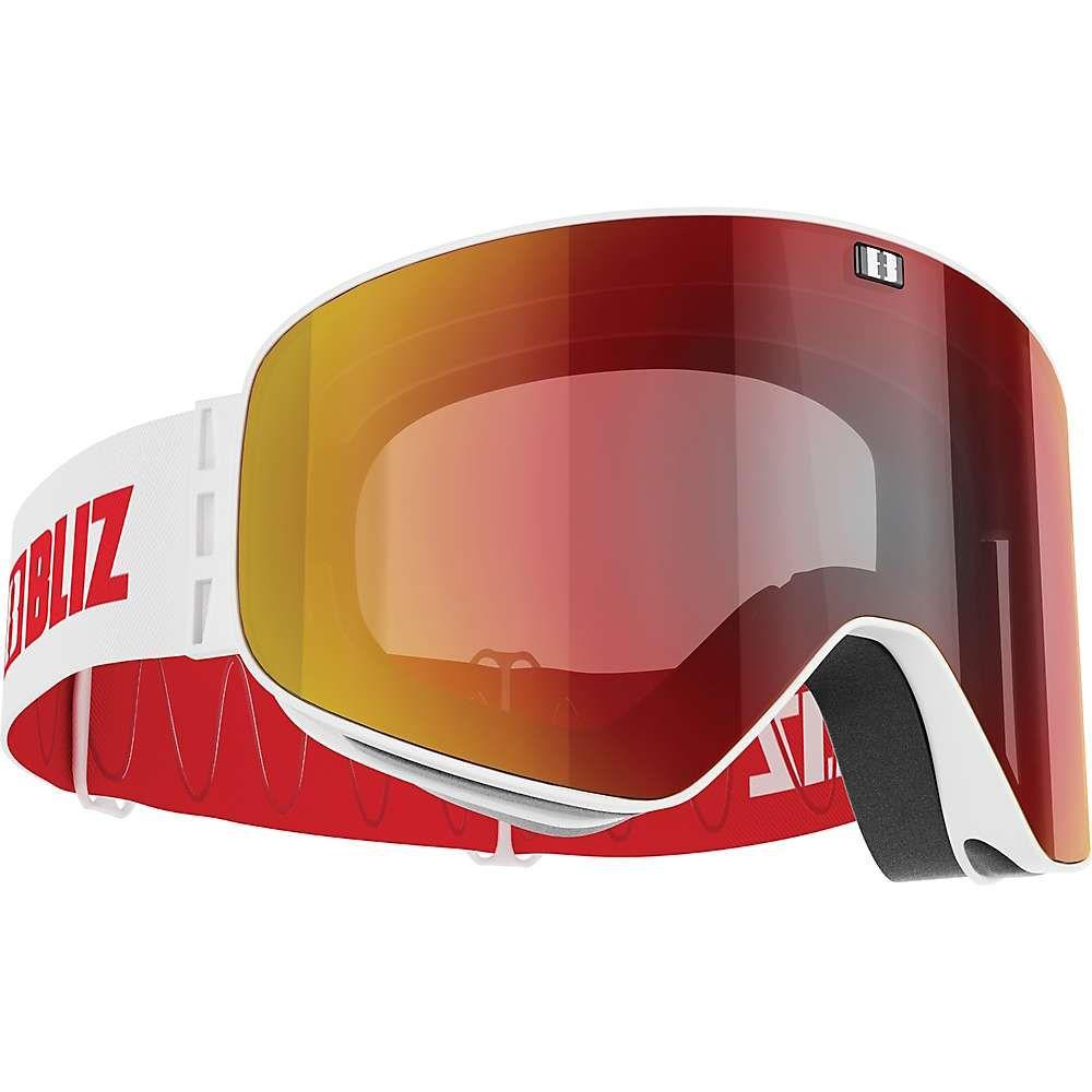 ブリッツ Bliz ユニセックス スキー・スノーボード ゴーグル【Flow Goggle】Matte White/Brown/Red Multi
