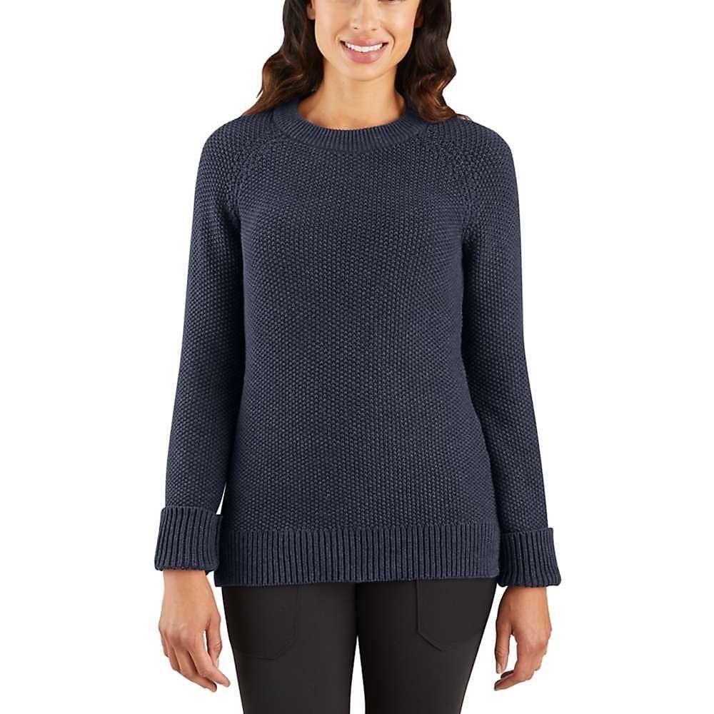 カーハート Carhartt レディース ハイキング・登山 ニット・セーター トップス【Crewneck Sweater】Navy Heather