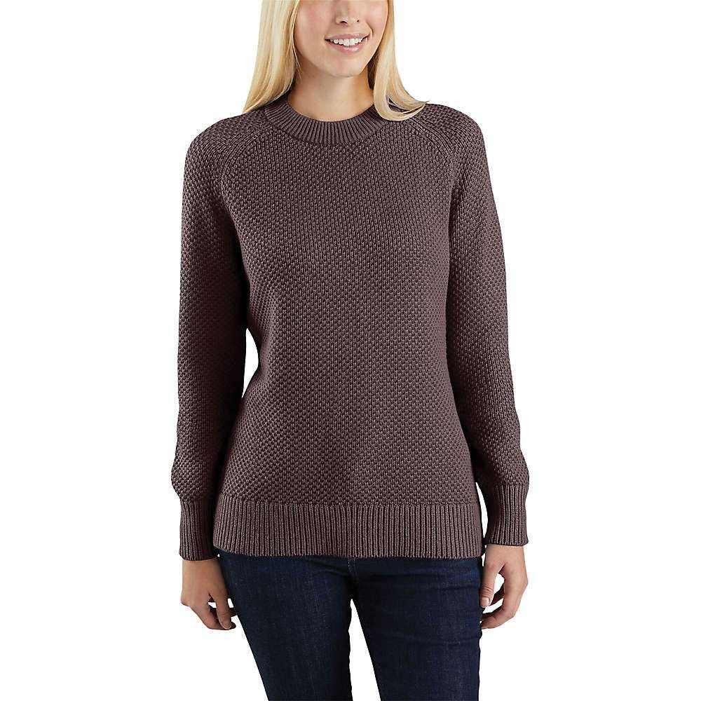 カーハート Carhartt レディース ハイキング・登山 ニット・セーター トップス【Crewneck Sweater】Fudge Heather