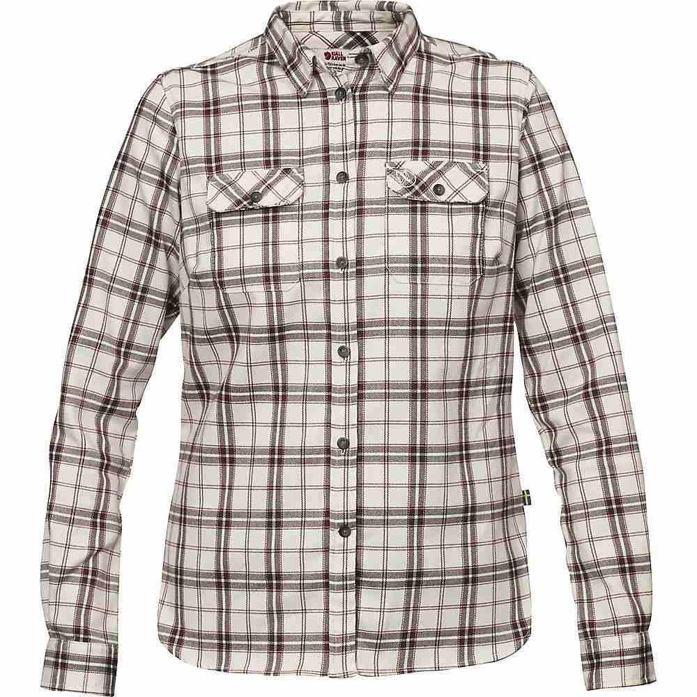 フェールラーベン Fjallraven レディース ハイキング・登山 シャツ トップス【Fjallglim Stretch LS Shirt】Chalk White