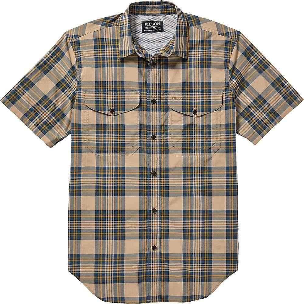 フィルソン Filson メンズ ハイキング・登山 半袖シャツ トップス【Twin Lakes SS Sport Shirt】Gold/Blue Plaid